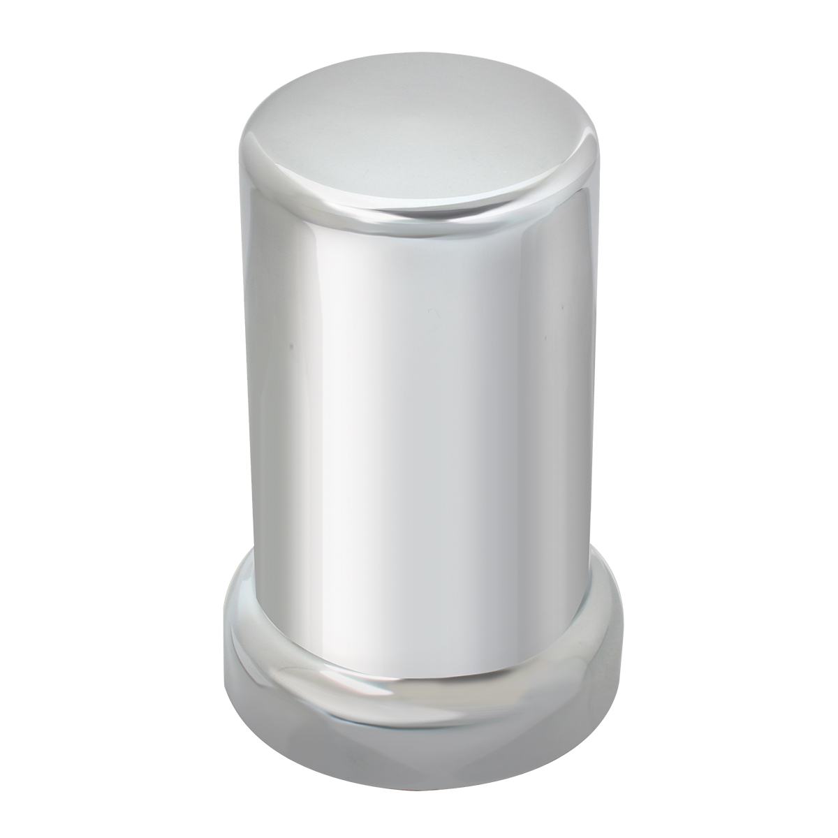 "Tube Chrome Plastic Lug Nut Cover 3-3/8"" (H)"