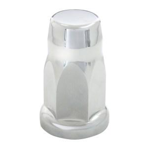 Silo Chrome Plastic Lug Nut Cover w/ Flange