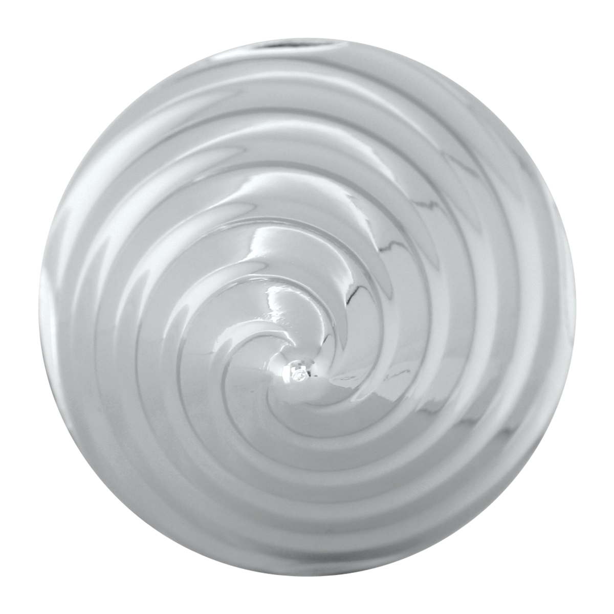 Counter Clockwise Twister Chrome Plastic Push-On Lug Nut Cover w/o Flange