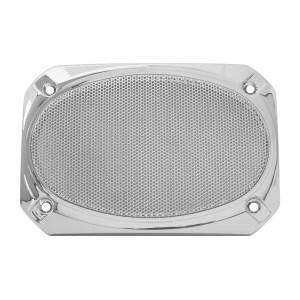 Rectangular Speaker Cover w/ Chrome Screen for Peterbilt 379