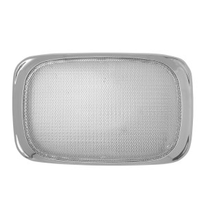 Rectangular Speaker Cover w/ Chrome Screen for Peterbilt