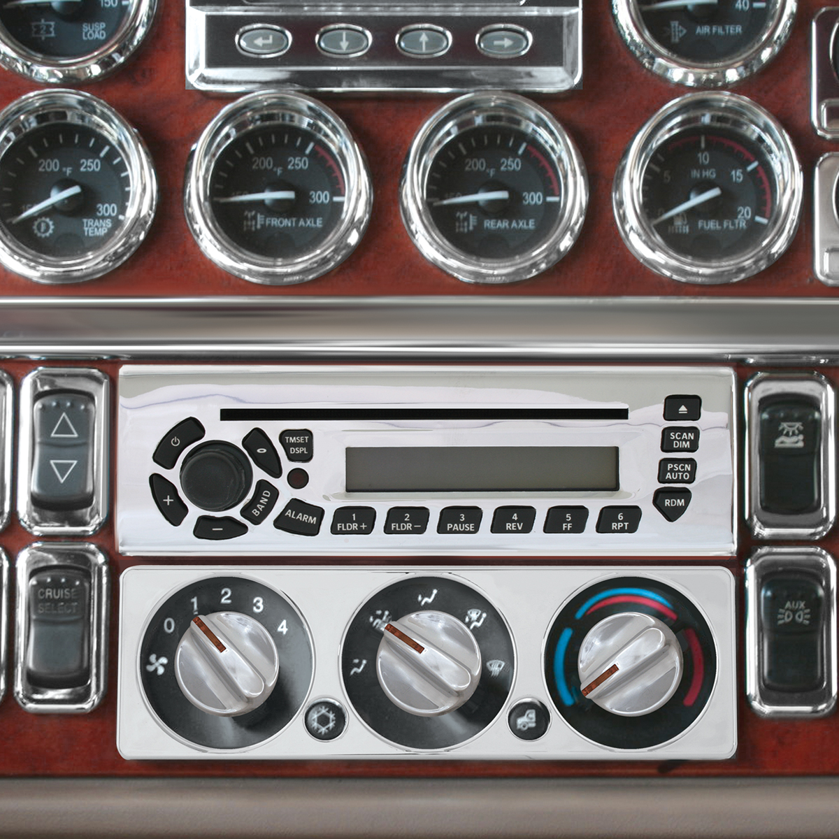 68348 Radio Unit Face Plate Cover for Peterbilt