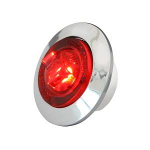 1″ Dual Function Mini Push/Screw-in Wide Angle LED Light w/ Chrome Bezel