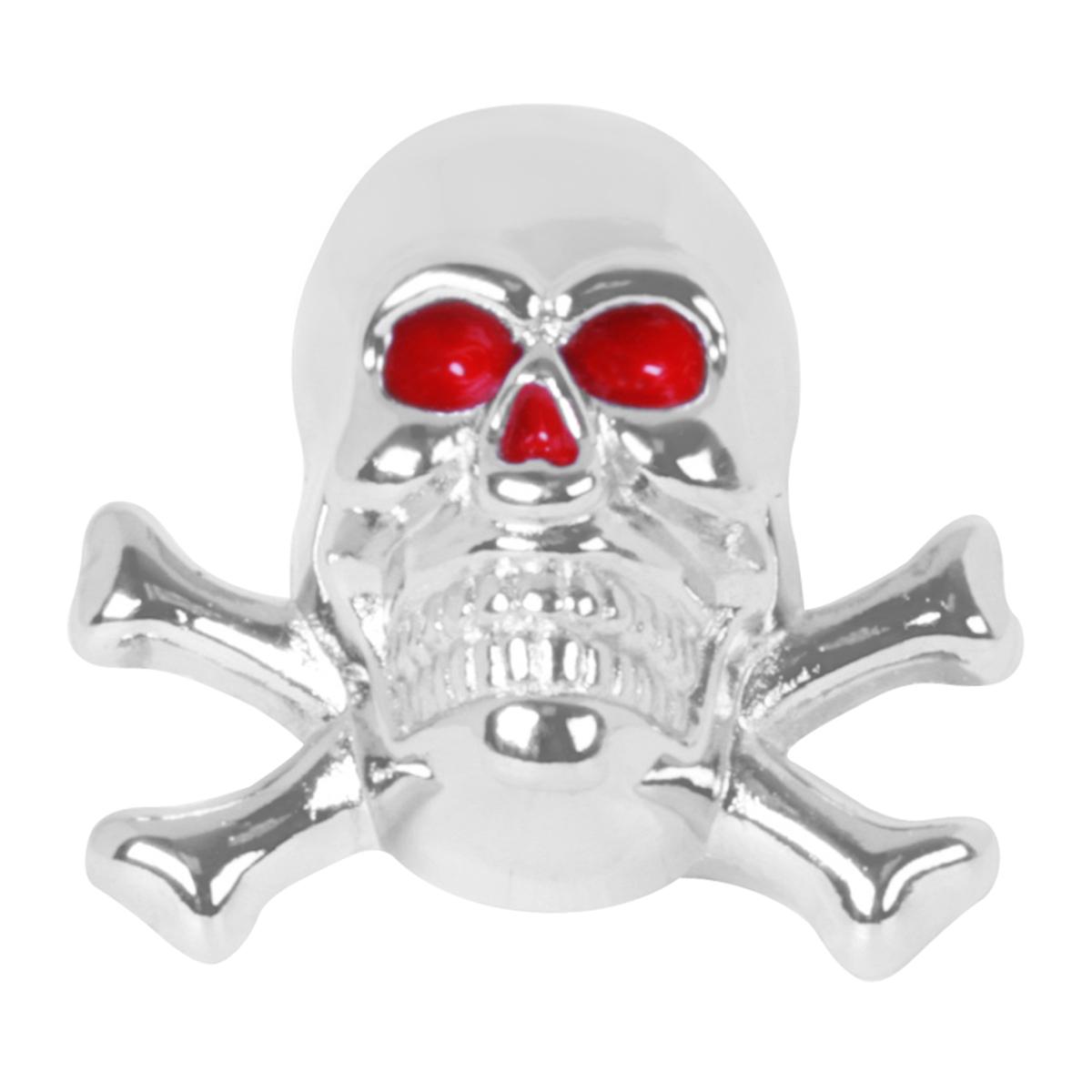 50551 Skull with Cross Bones License Plate Fastener Set