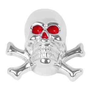 Skull with Cross Bones License Plate Fastener Set