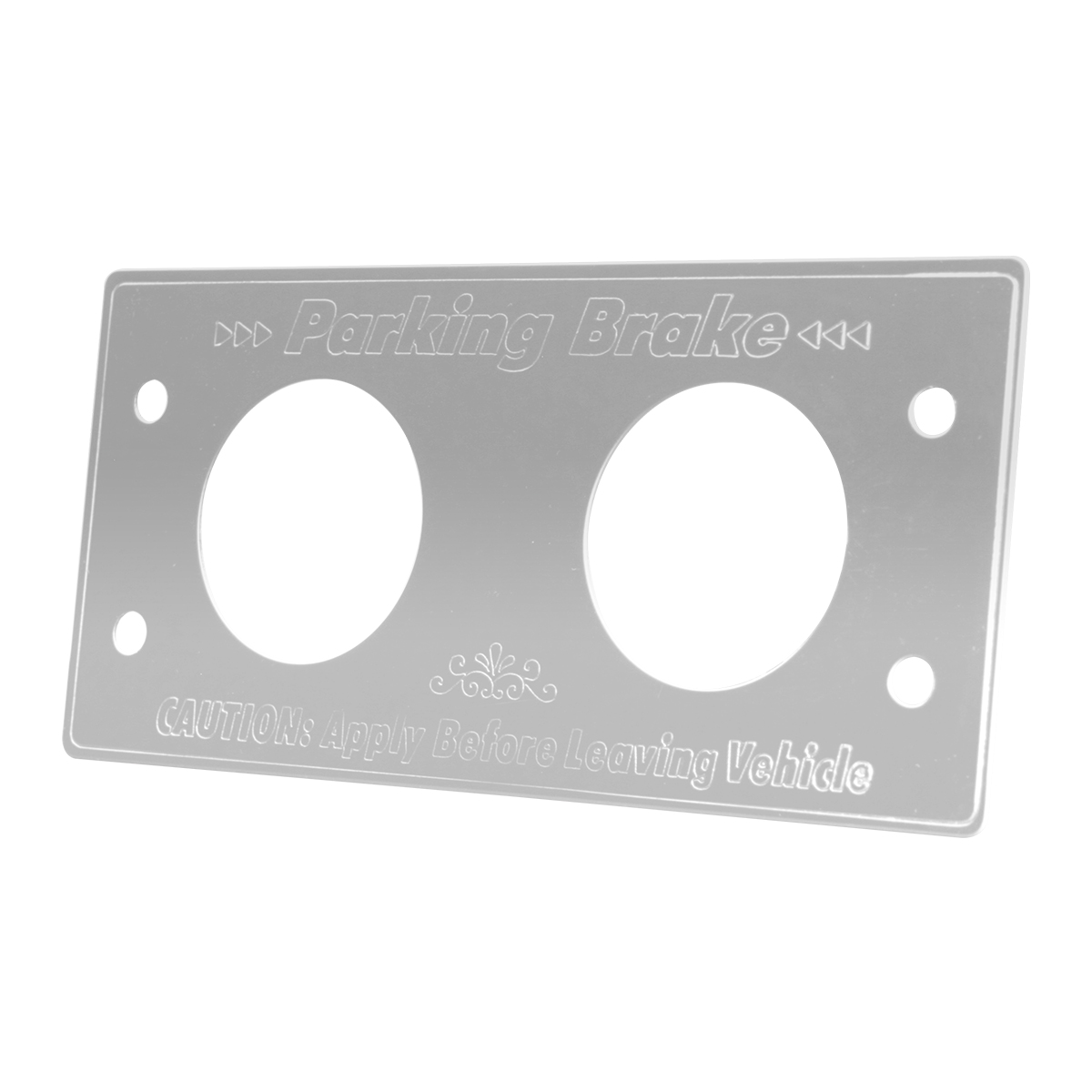 Stainless Steel Kenworth Ignition Key Switch Plate
