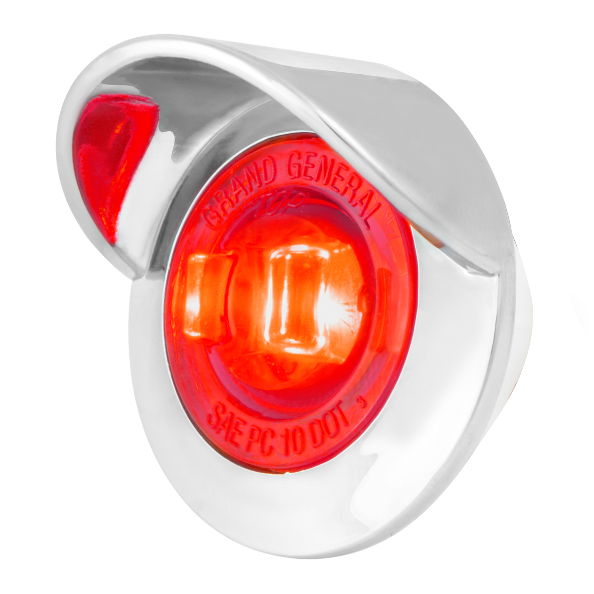 "75252 1"" Dia. Mini Push/Screw-in Wide Angle LED Marker Light w/ Chrome Bezel & Visor"