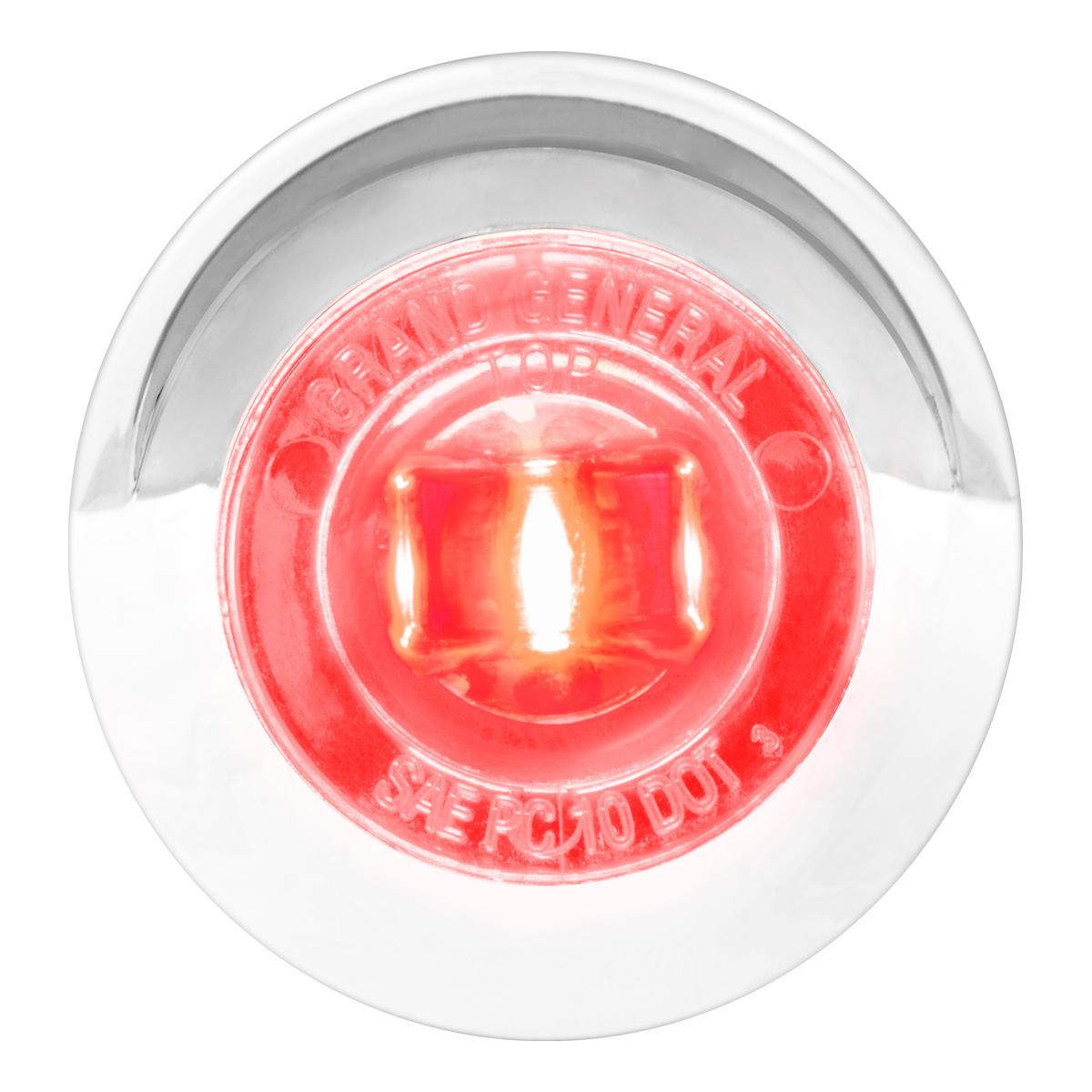 "75263 1"" Dual Function Mini Push/Screw-in Wide Angle LED Light w/ Chrome Bezel & Visor"