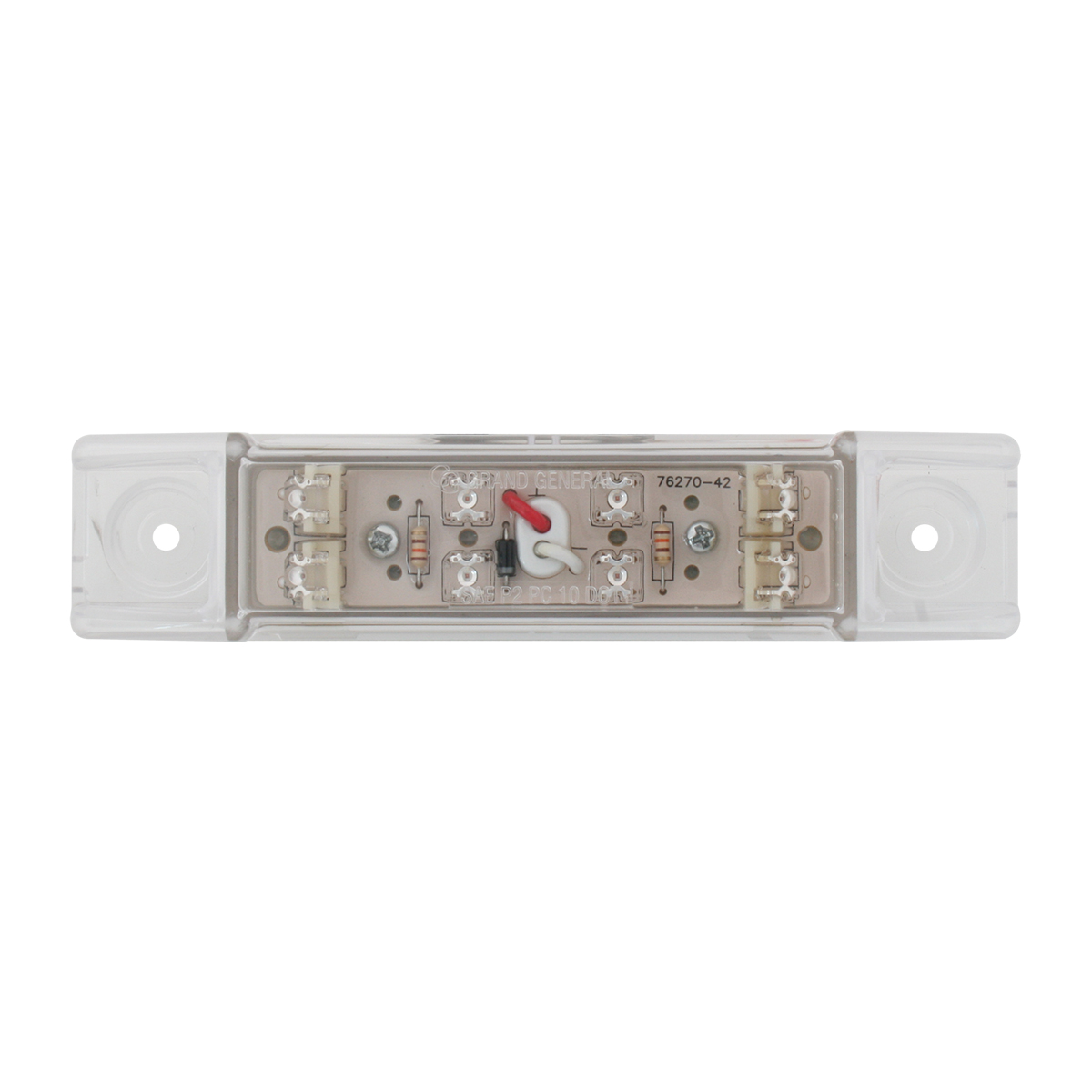 Rectangular Wide Angle Dual Function LED Light in Clear Lens