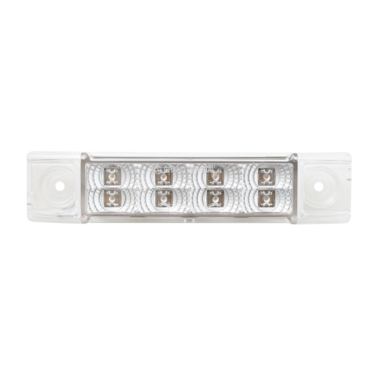 Rectangular Spyder Dual Function LED Light in Clear Lens