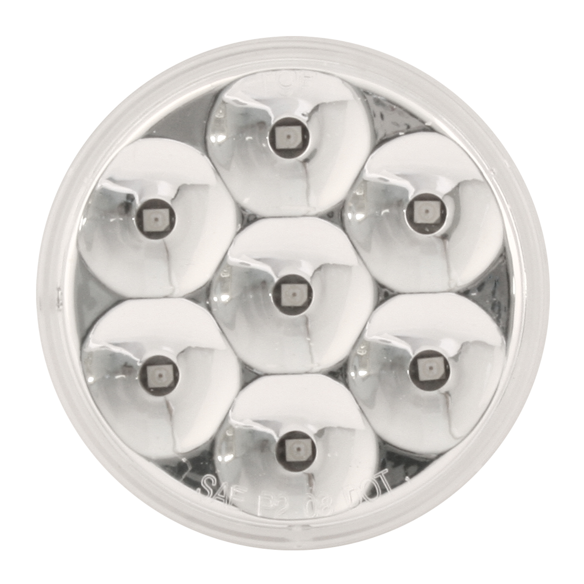 "2"" Dual Function Pearl LED Light in Clear Lens"