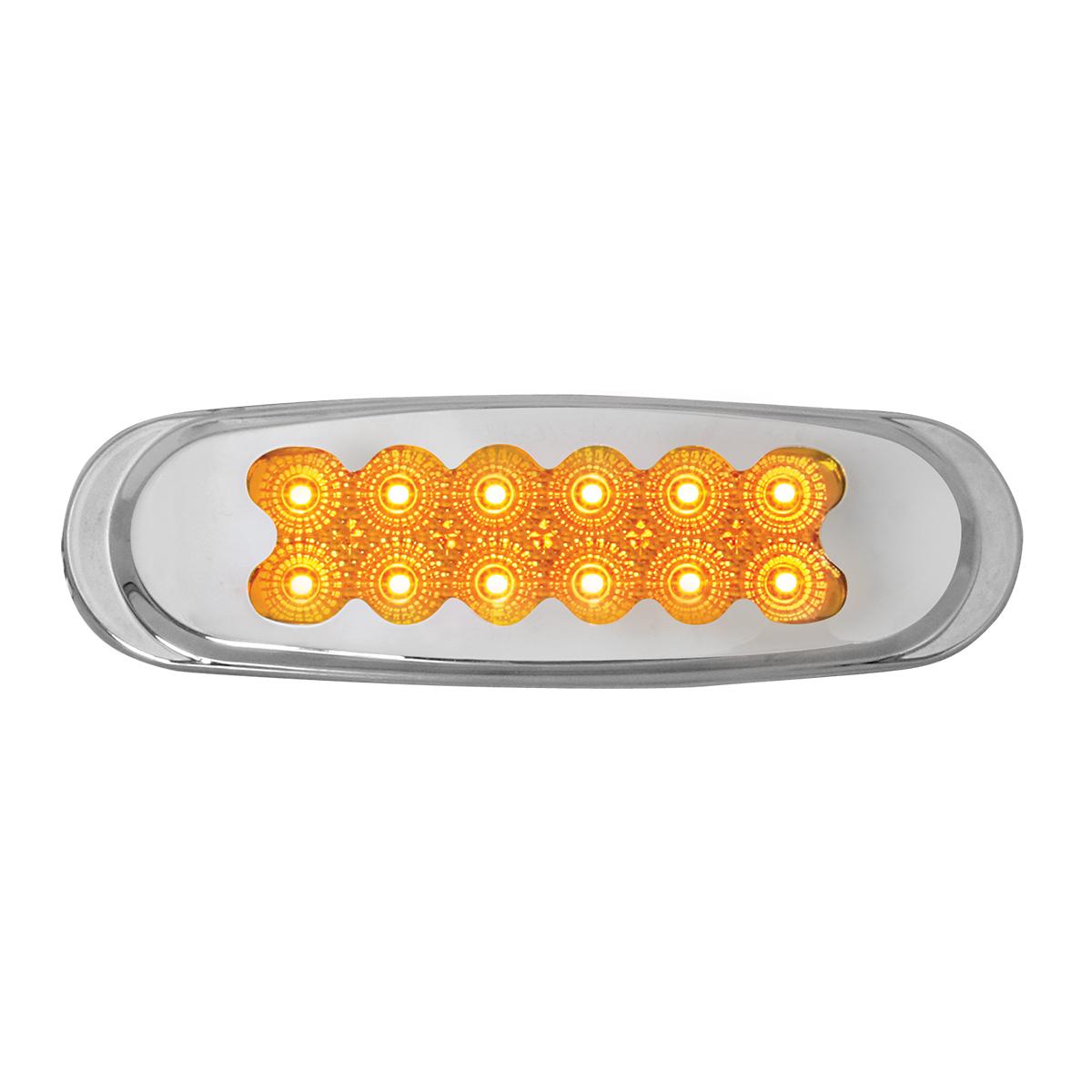 76705 Ultra Thin Dual Function Spyder LED Light w/ Chrome Plastic Matrix Bezel