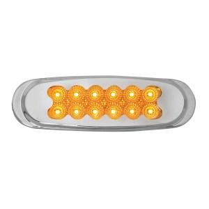 Ultra Thin Dual Function Spyder LED Light w/ Chrome Plastic Matrix Bezel