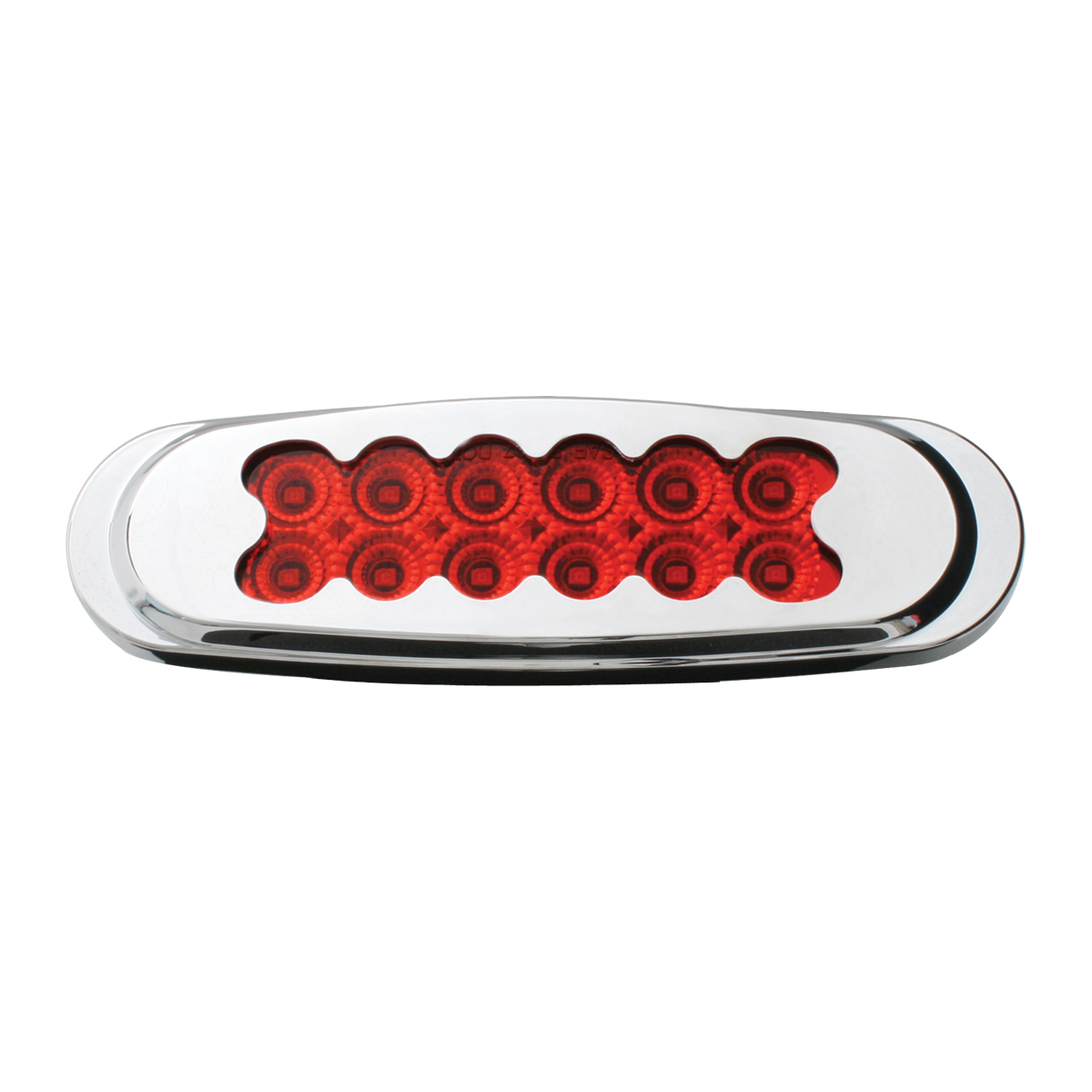 76702 Ultra Thin Spyder LED Marker Light w/ Chrome Plastic Matrix Bezel