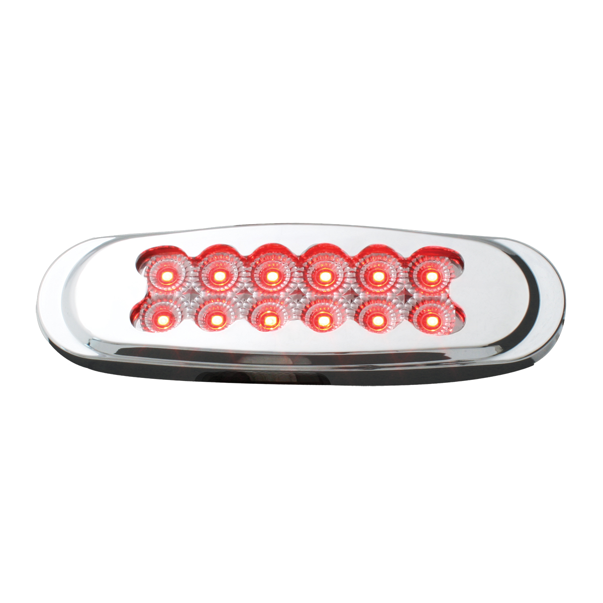 76708 Ultra Thin Dual Function Spyder LED Light w/ Chrome Plastic Matrix Bezel