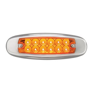 Ultra Thin Spyder LED Marker Light w/ Stainless Steel Bezel