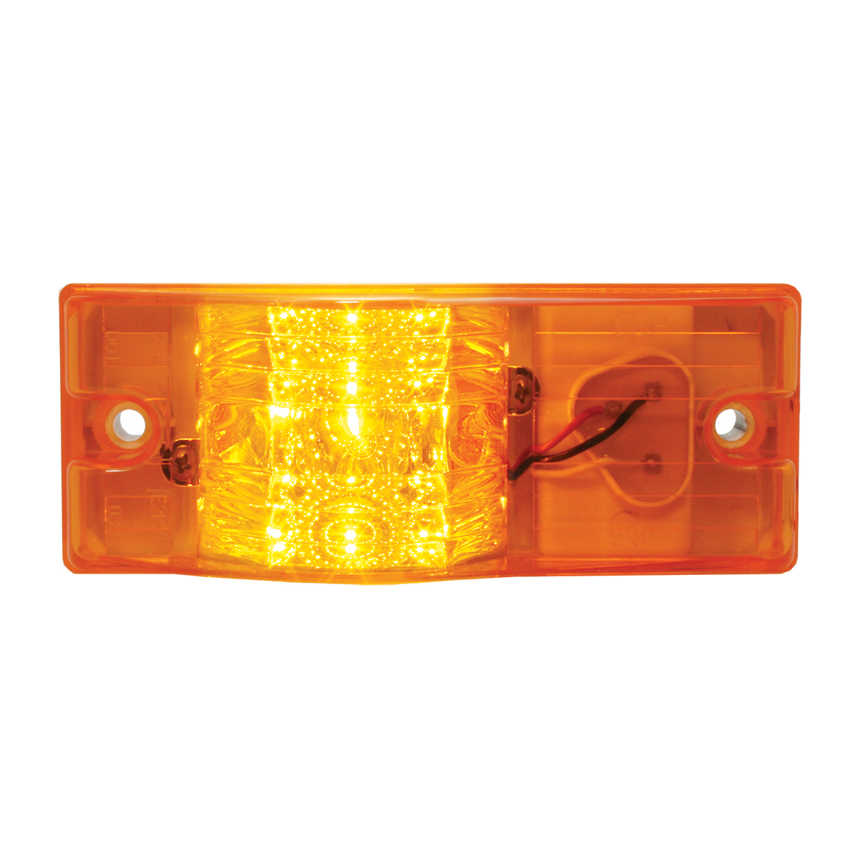 Rectangular Side Mount Spyder LED Turn/Marker Light In Amber Lens