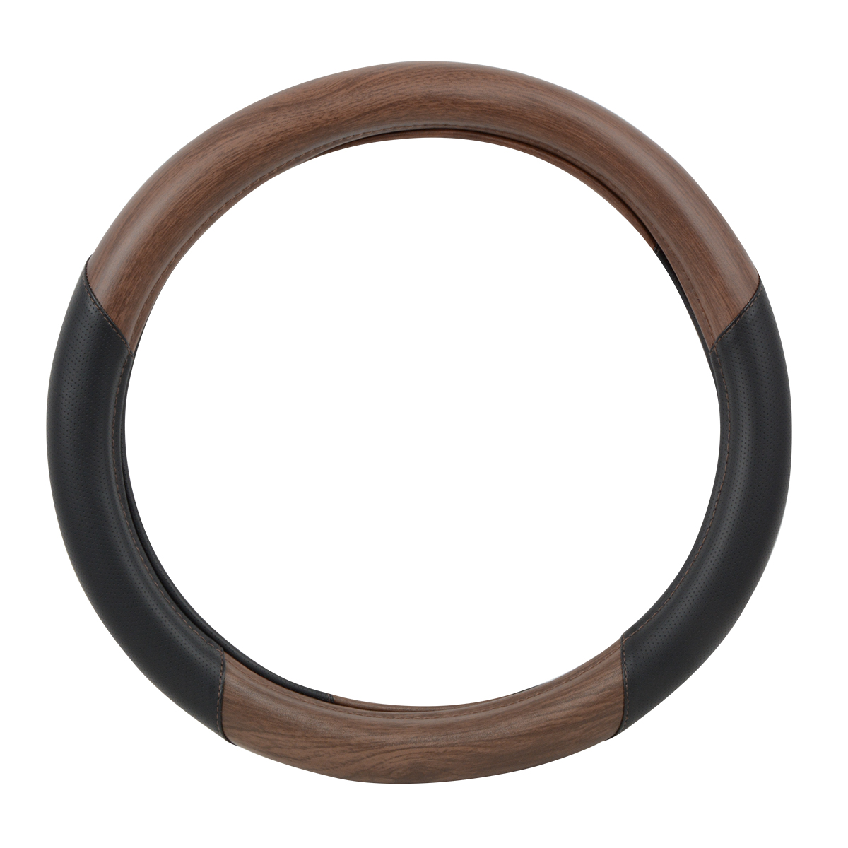 "54060 Heavy Duty 18"" Steering Wheel Cover in Deluxe Matte Natural Wood"