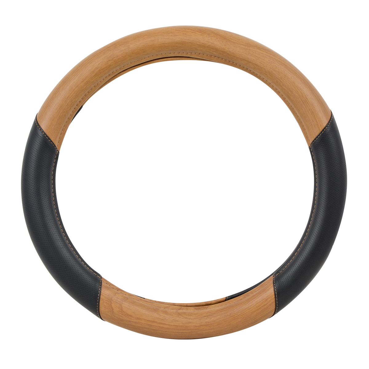 "54061 Heavy Duty 18"" Steering Wheel Cover in Deluxe Matte Natural Wood"