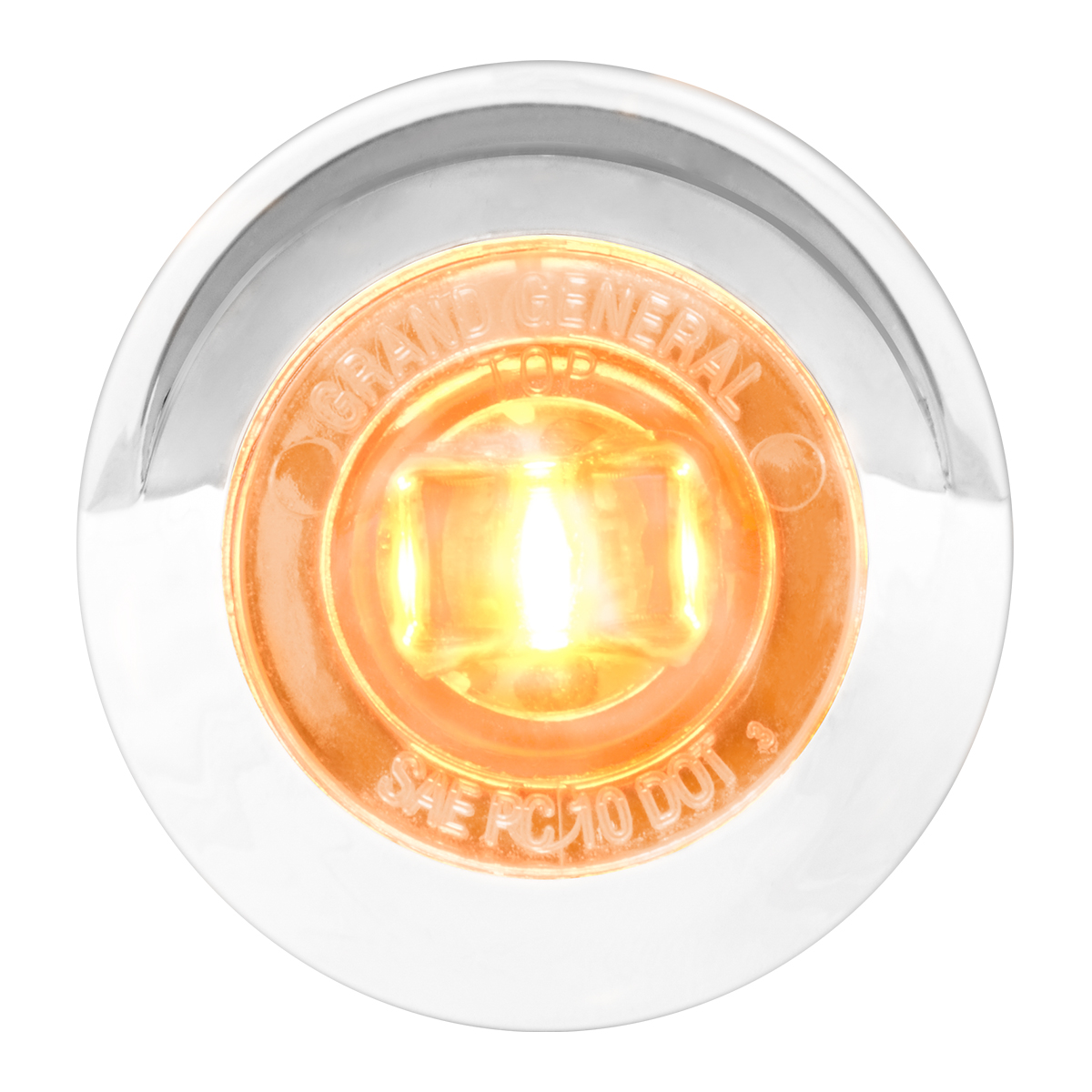 "75231 1-1/4"" Dia. Dual Function LED Light with Chrome Plastic Bezel w/ Visor and Nut"