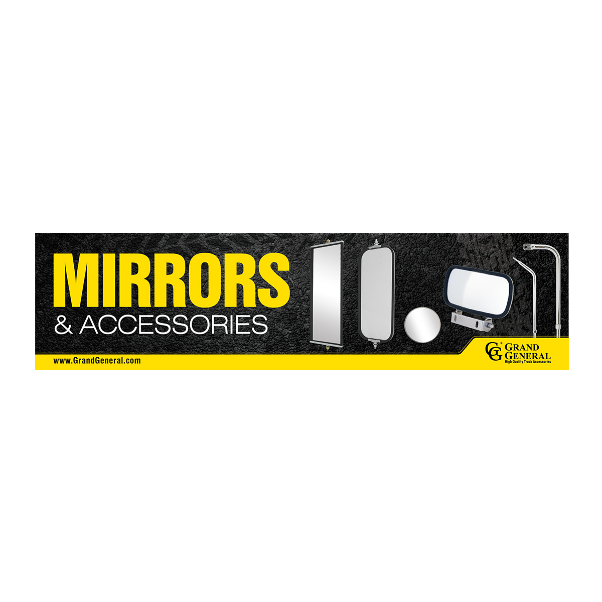 Mirror Product Display Sign