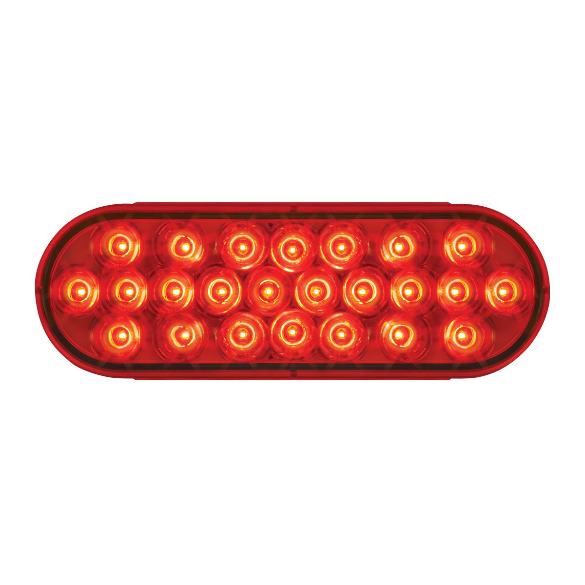 "LED light 4/""  red lens 18 LED stop tail turn for Peterbilt Kenworth Freightliner"