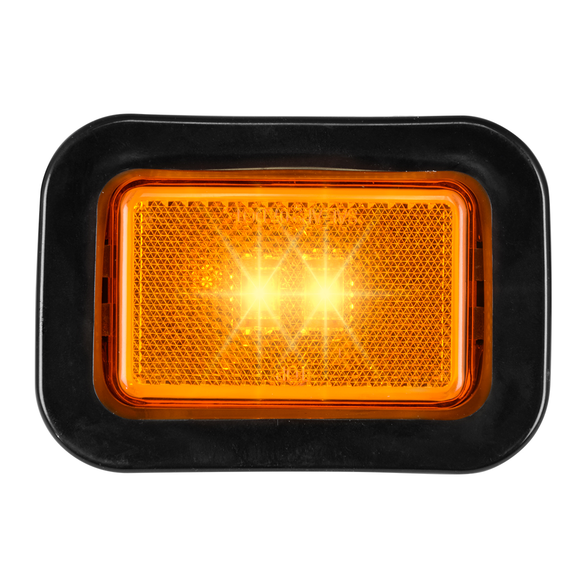 78594 Rectangular Marker LED in Reflector Lens with Grommet and Pigtail