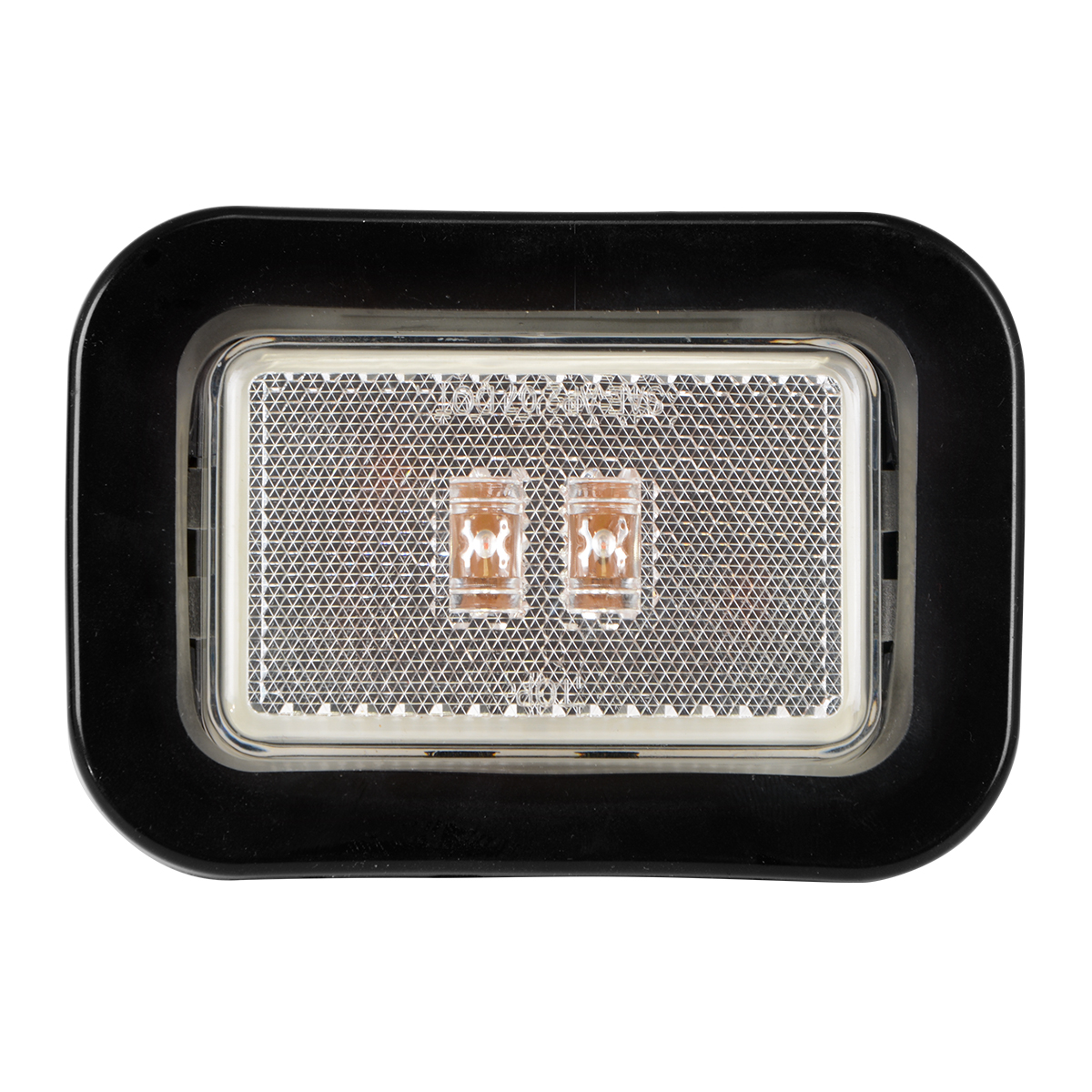 78597 Rectangular Marker LED in Reflector Lens with Grommet and Pigtail