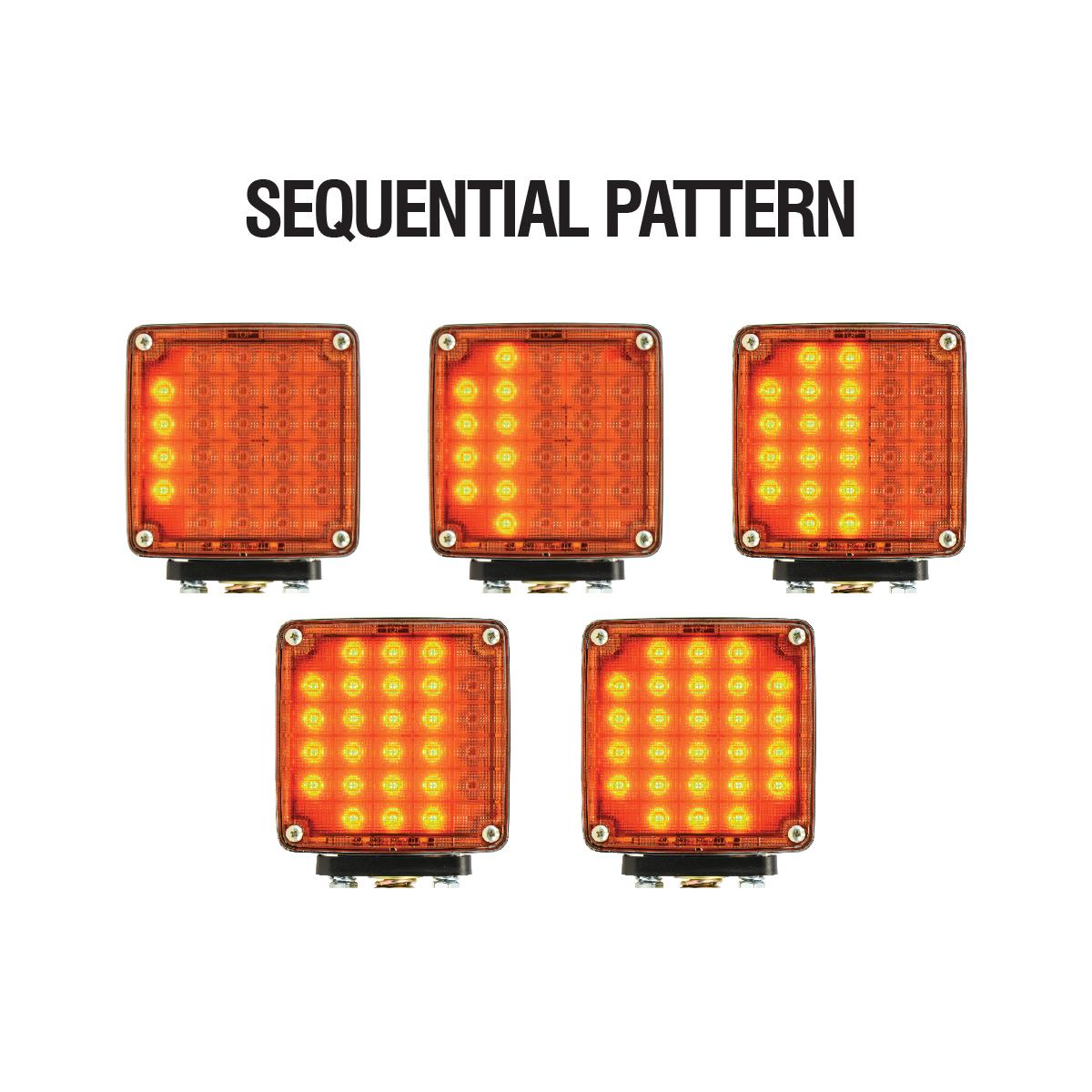 Square Double Face Smart Dynamic LED Pedestal Light
