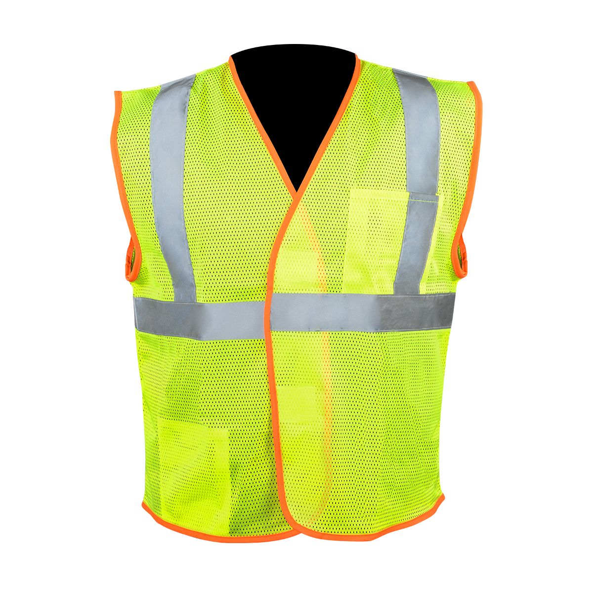 Class 2 High Visibility safety Vest with Hook and Loop