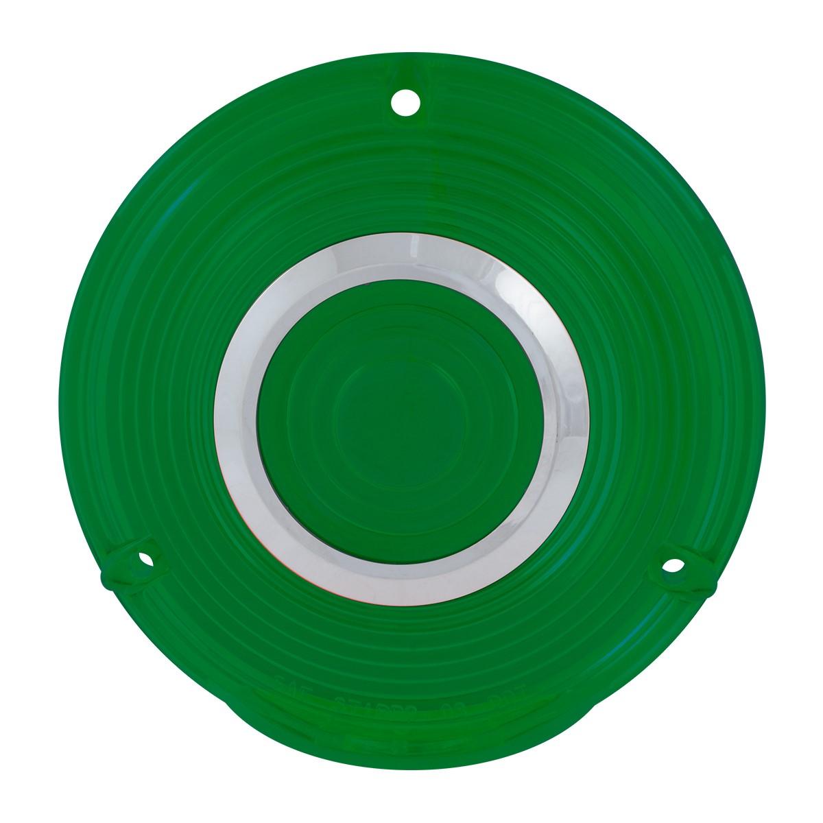 Grand General 86722 Green Plastic Lens w/ Chrome Rim