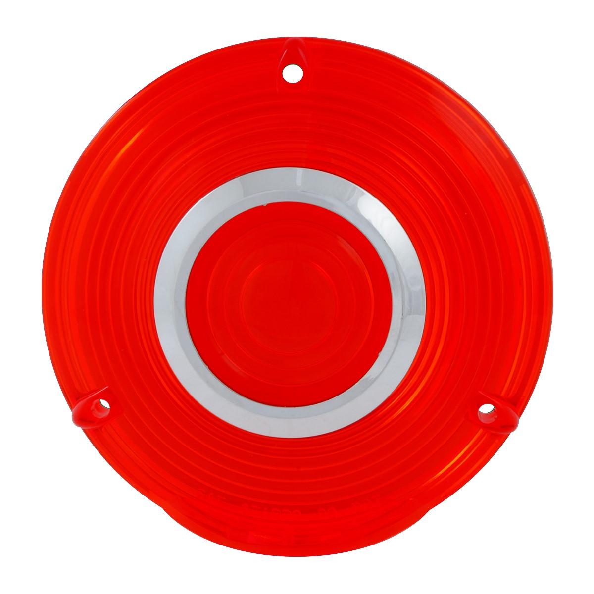 Grand General 86724 Red Plastic Lens w/ Chrome Rim