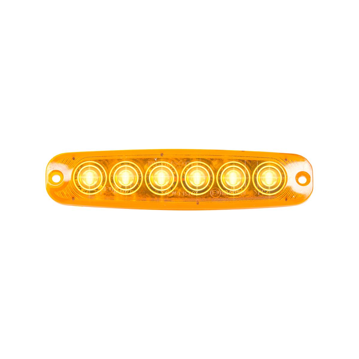 "5 ⅛"" Ultra Thin Strobe LED Light - Amber/Amber"