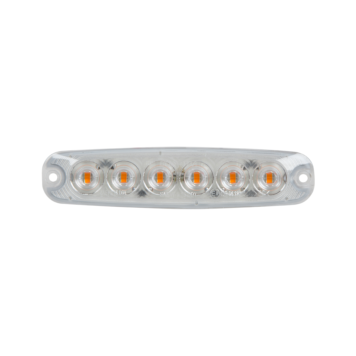 "5 ⅛"" Ultra Thin LED Light - Amber/Clear"