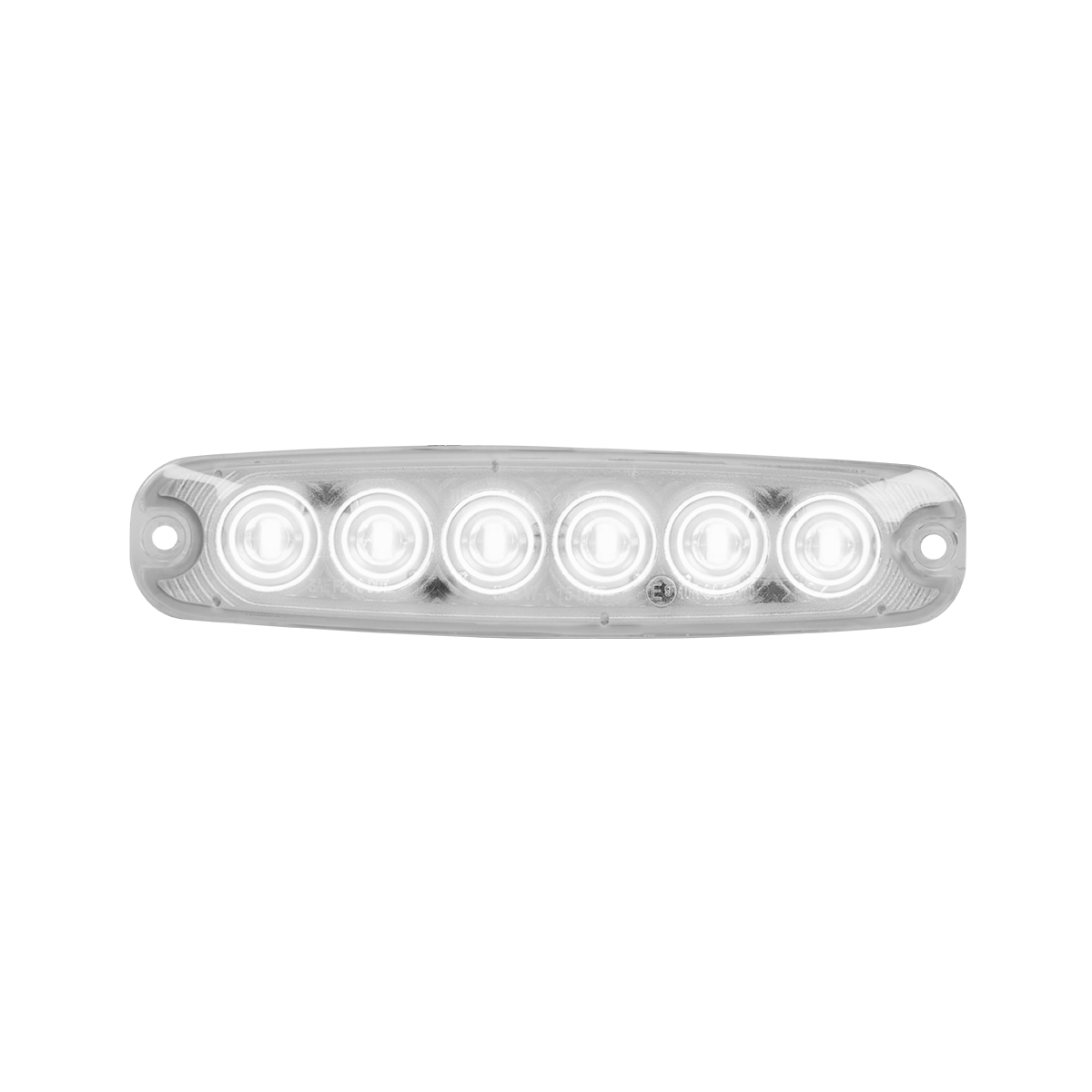 "5 ⅛"" Ultra Thin LED Light - White/Clear"