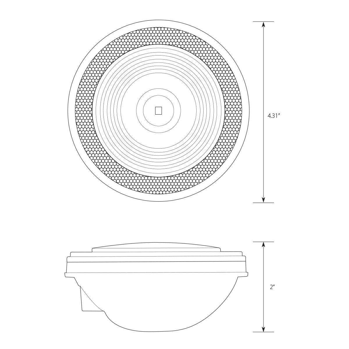 4 Single Led W Reflective Ring Lens
