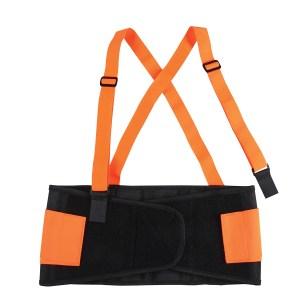High Visibility Back Support Belt w/ Adjustable & Detachable Suspenders