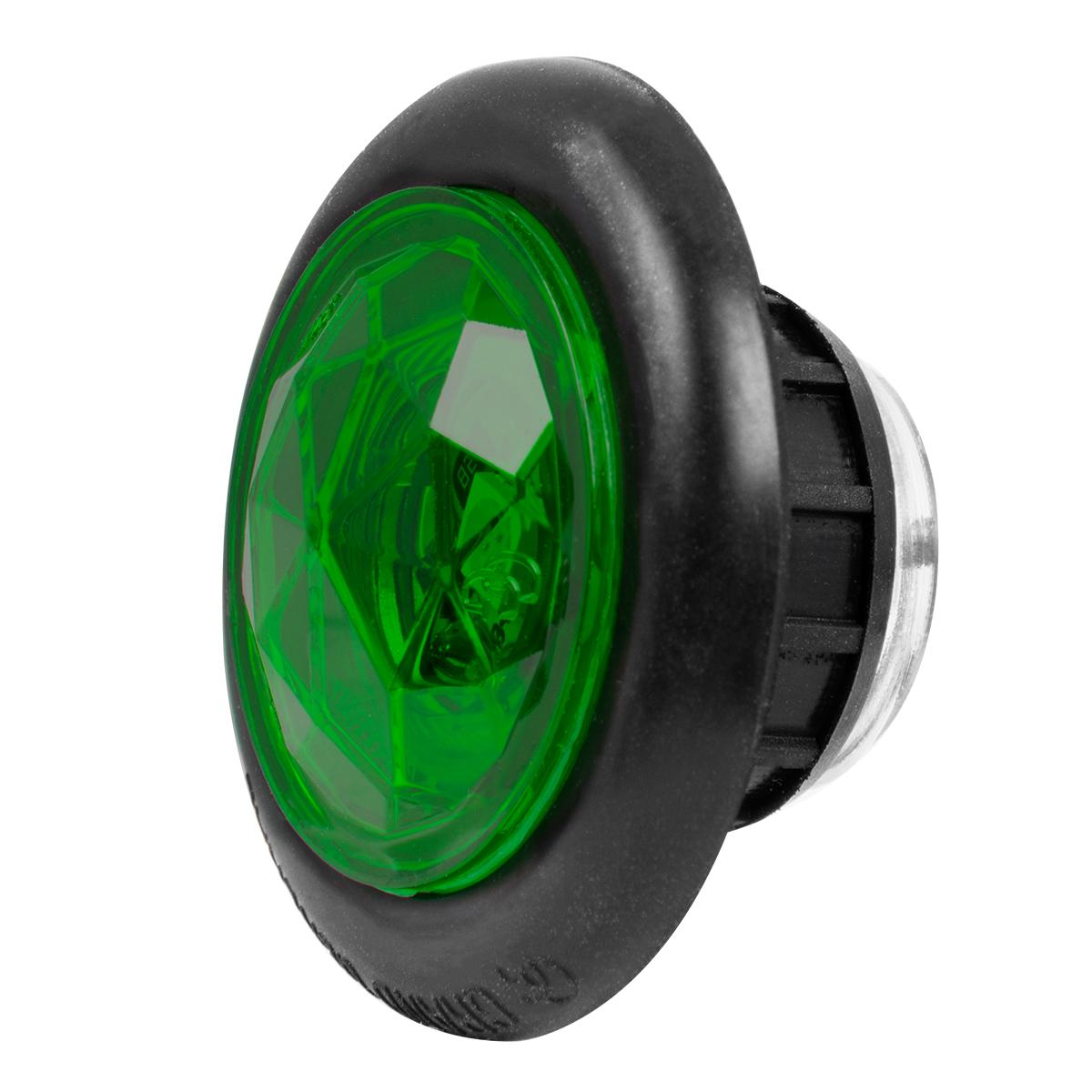 "1"" Dia. Dual Function Diamond Lens LED Light with Rubber Grommet"