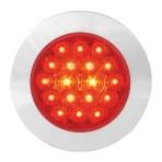 4″ Fleet Flange Mount LED Light with Chrome Twist & Lock Bezel in Standard 3-Prong