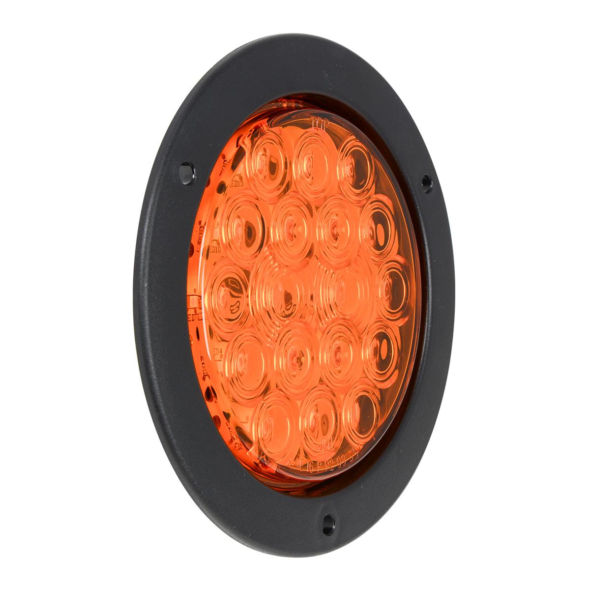 "75890 4"" Fleet LED Light with Black Flange Mount in 3 Wires"