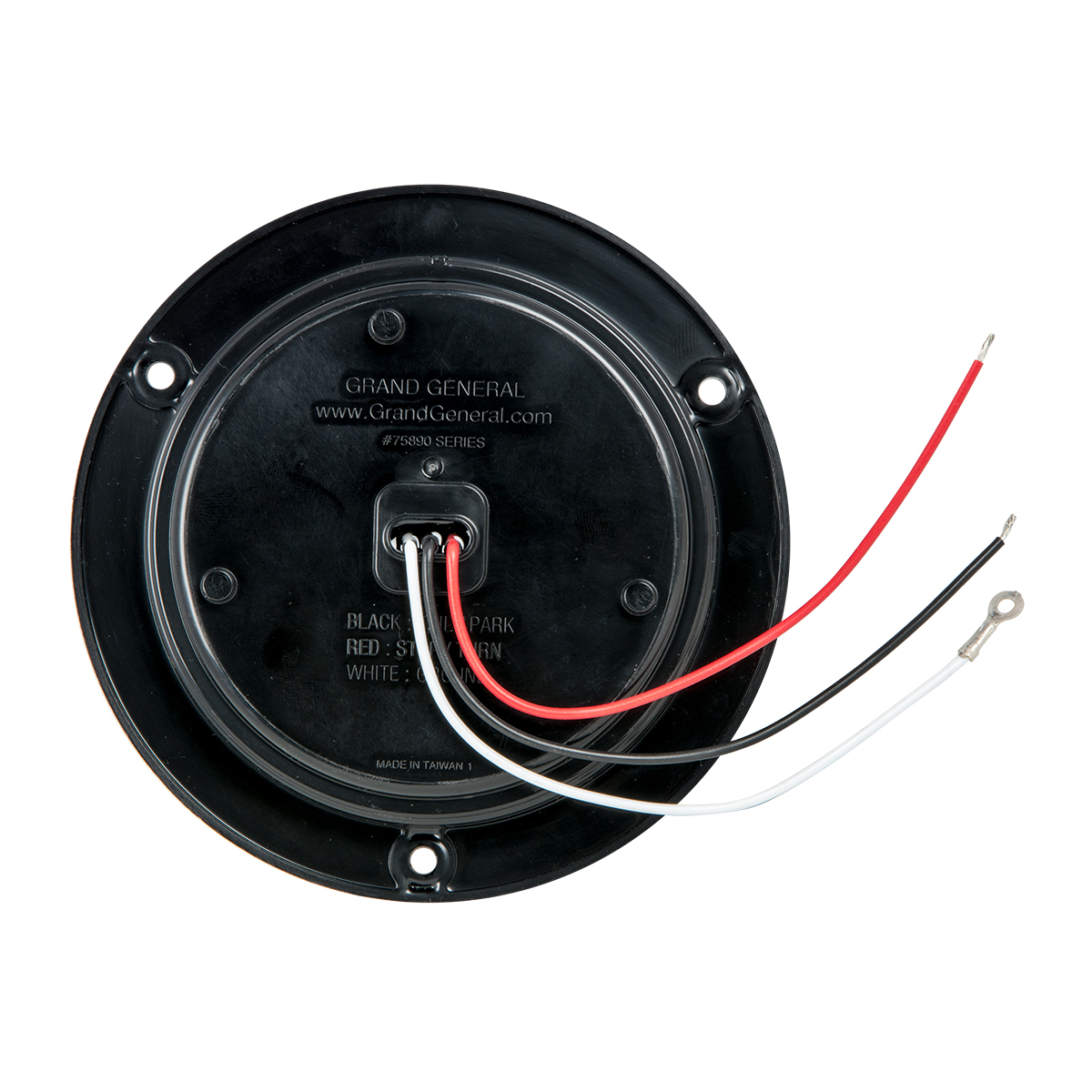 "4"" Fleet LED Light with Black Flange Mount in 3 Wires"