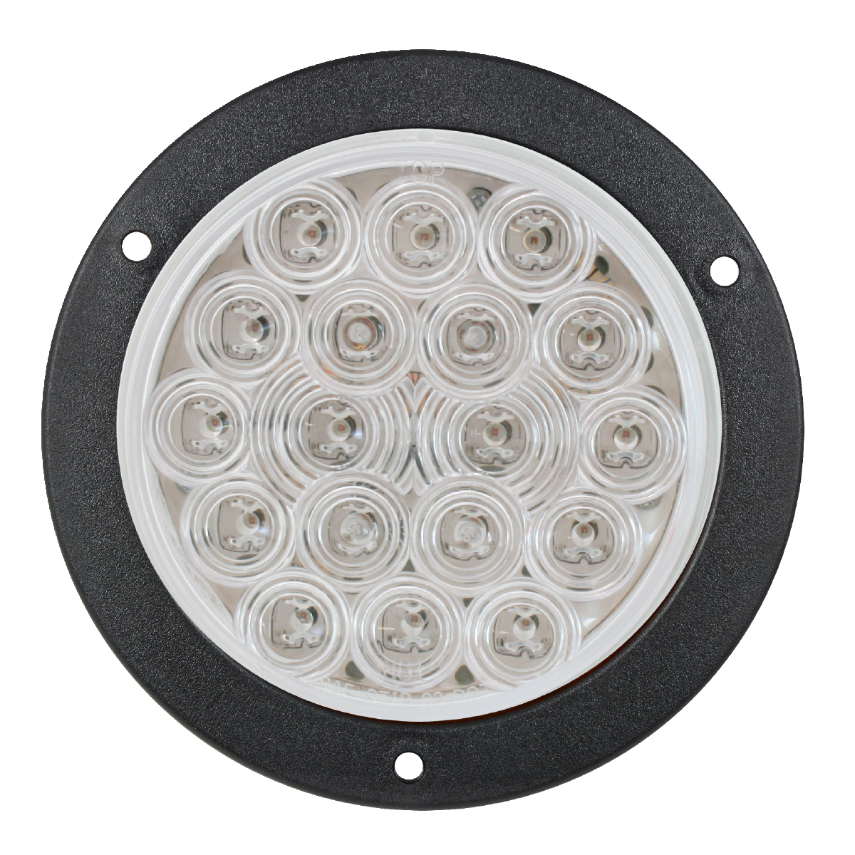 "4"" Fleet LED Light with Black Flange Mount in 3 Wires in Clear Lens"