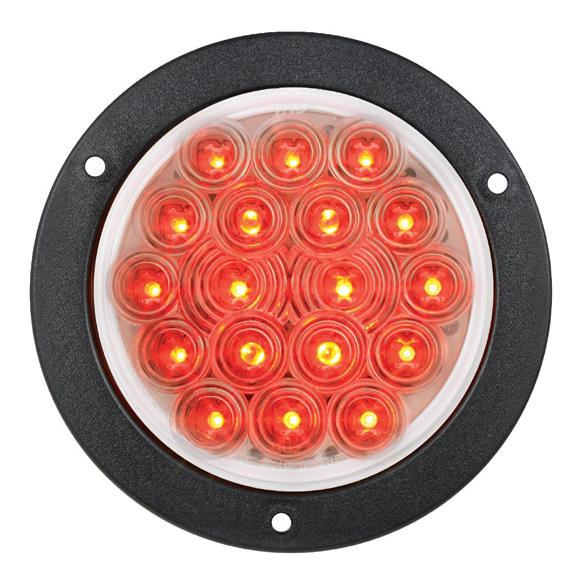 "75893 4"" Fleet LED Light with Black Flange Mount in 3 Wires"