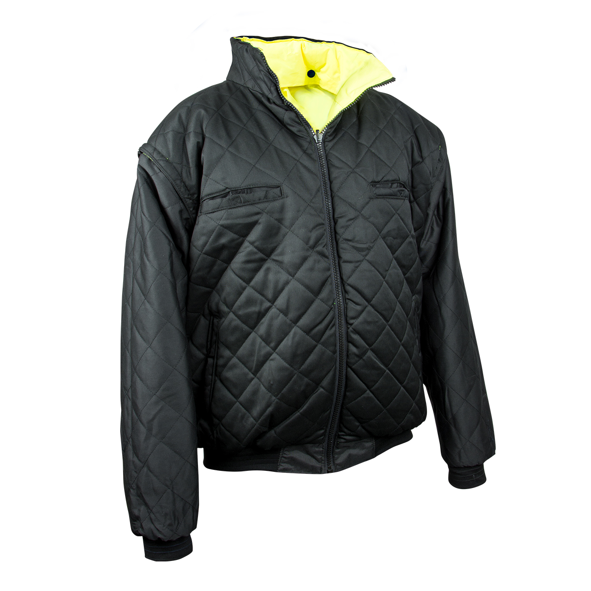 High Visibility Class 3 Water Repellent and Reversible Bomber Jacket