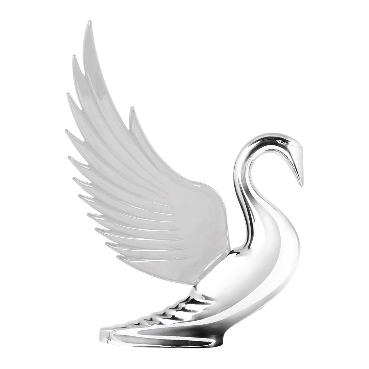 48054 WindRider Chrome Swan Hood Ornament