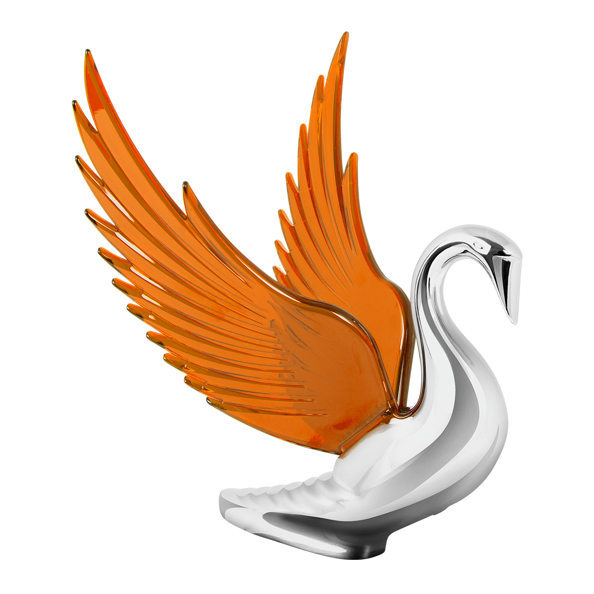 48096 WindRider Chrome Swan Hood Ornament