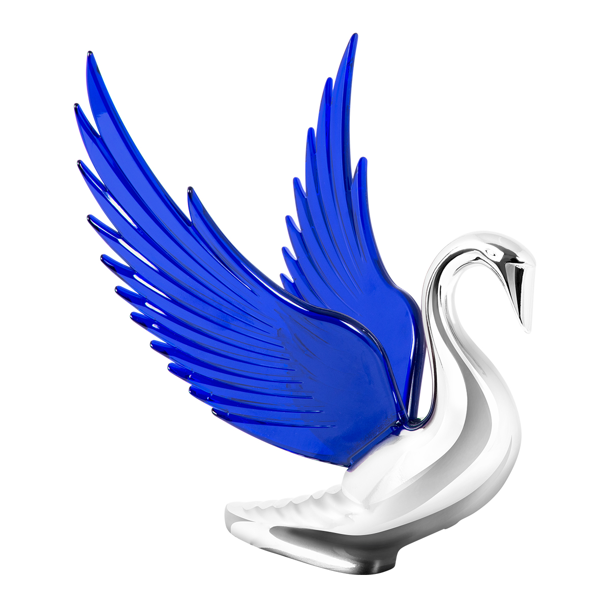 48097 WindRider Chrome Swan Hood Ornament