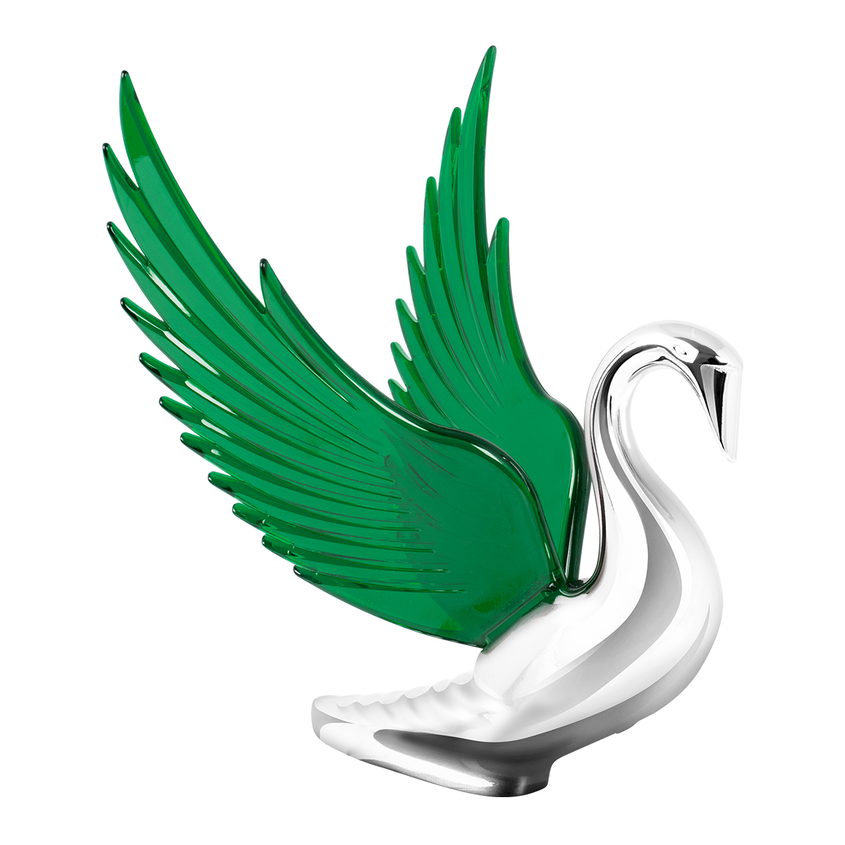 48098 WindRider Chrome Swan Hood Ornament