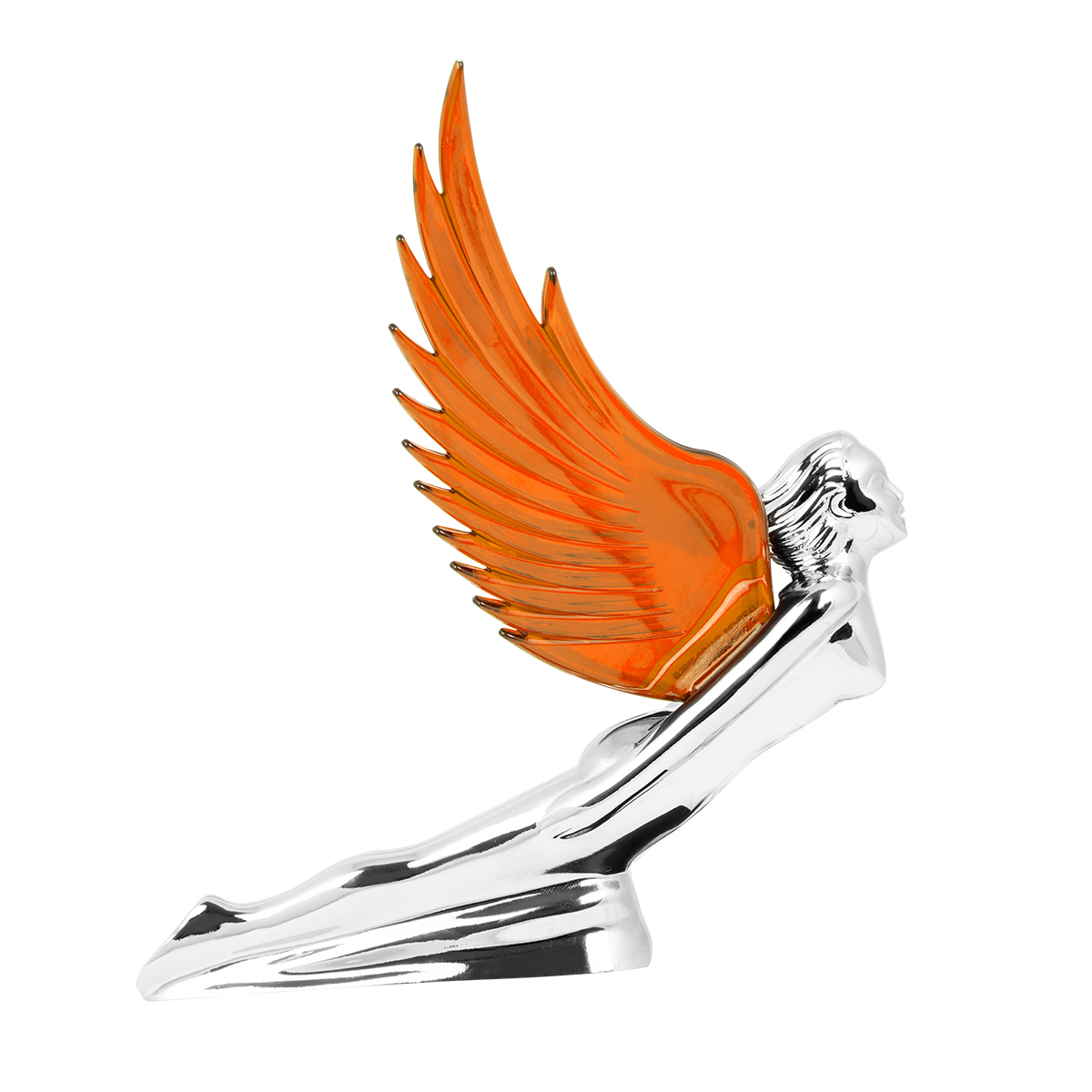 48106 WindRider Chrome Flying Goddess Hood Ornament