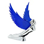 WindRider Chrome Flying Goddess Hood Ornament